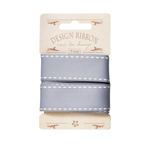 Tilda - Ribbon Blue Grey - 3 metre pack