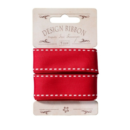 Tilda - Ribbon Red - 3 metre pack