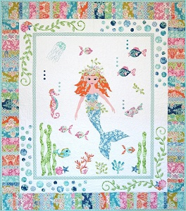Petals and Patches - Mermaid Garden Quilt Kit
