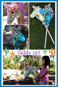 Melly and Me - Giddy Up Toy Hobbyhorse Softie Pattern