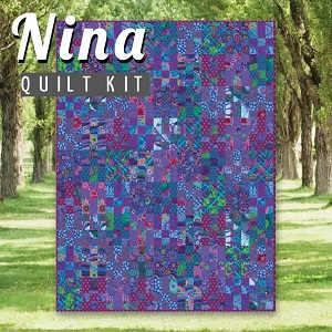 Nina Quilt Kit - Featuring Kaffe Fassett Classics in Peacock