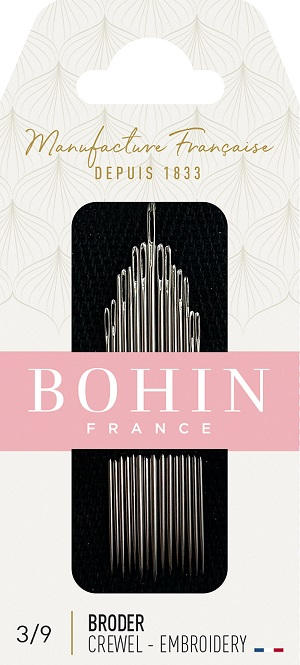 Bohin Embroidery Needles Assortment Size 3 to 9