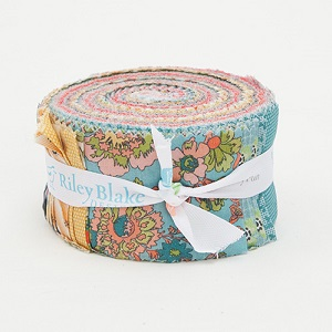 Penny Rose Fabrics - Floral Hues - 2.5 Inch Rolie Polie 40 Pieces