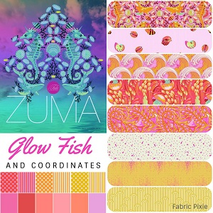 Tula Pink - Zuma - Half Metre Bundle of 20 Pieces in Glow Fish