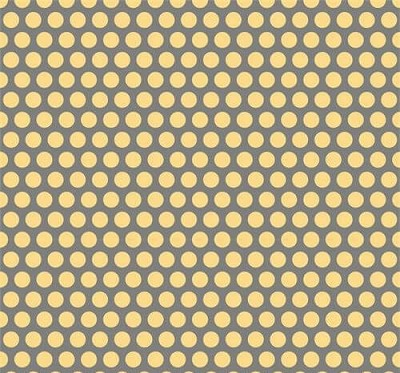Adorn It - Nested Owls - Grid Dot in Mustard and Charcoal