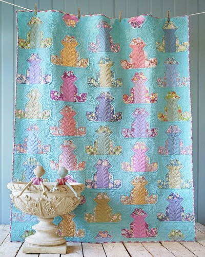 Tilda Gardenlife Puddle Frog Quilt Kit *** PRE-ORDER - ARRIVING MAY 2021 ***