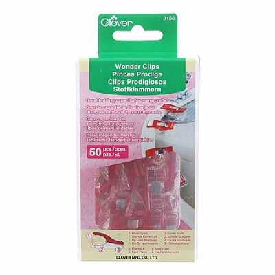 Clover Red Wonder Clips in Storage Box 50pcs