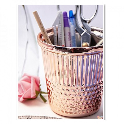 Rose Gold Thimble Sewing Notions Holder