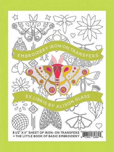 Alison Glass Embroidery Iron-On Transfers Ex Libris