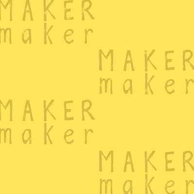 Andover - Maker Maker by Sarah Golden - Text in Yellow