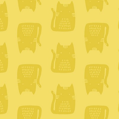 Andover - Maker Maker by Sarah Golden - Cats in Yellow
