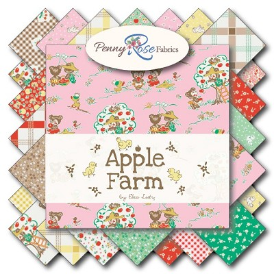 Penny Rose Fabrics - Apple Farm - Half Metre Bundle of 21 Pieces