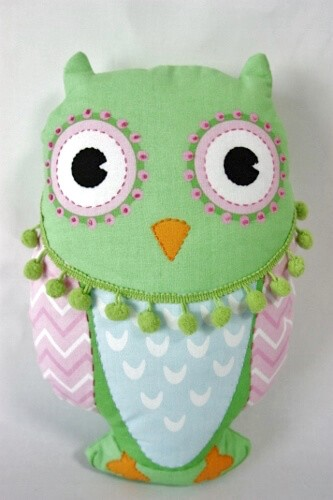 Owl Softie and Bunting Panel