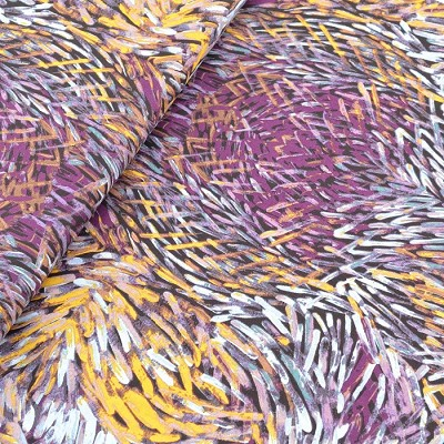 M & S Textiles Australia - Bush Yam X2 Purple by Jeannie Pitjara