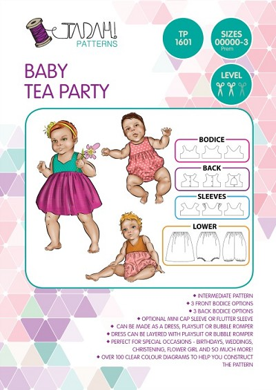 Tadah Patterns - Baby Tea Party Dress/Playsuit Pattern