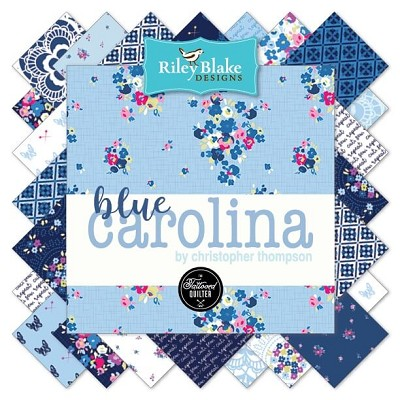 Riley Blake Designs -Blue Carolina- Half Metre Bundle of 21 Pieces