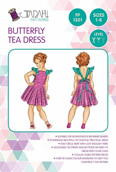 Tadah Patterns - Butterfly Tea Dress Pattern