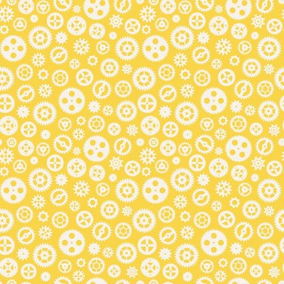 Riley Blake Designs - Fun & Games - Gears in Yellow