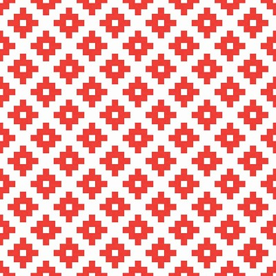 Riley Blake Designs - Mod Studio - Geometric in Red *** REMNANT 2.9 METRE PIECE ***