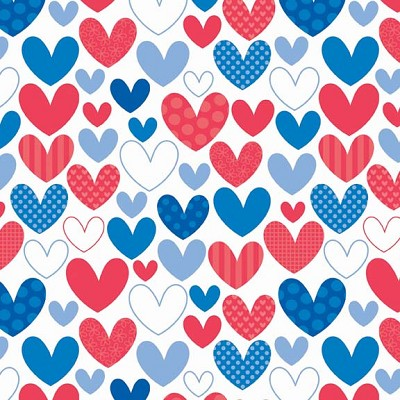 Riley Blake Designs - Star Spangled Hearts in Multi