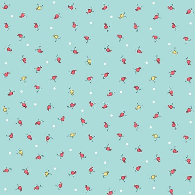 Riley Blake Designs - Butterfly Dance Caterpiller in Blue *** REMNANT 3 METRE PIECE ***