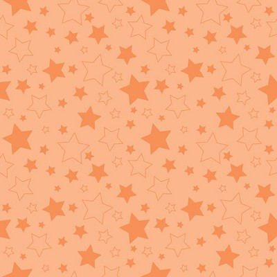 Riley Blake Designs - Cotton Stars Orange