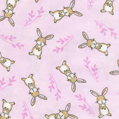 Timeless Treasures - Starry Night - Pink Bunny