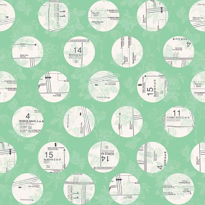 Riley Blake Designs - Sew Charming Circles in Mint