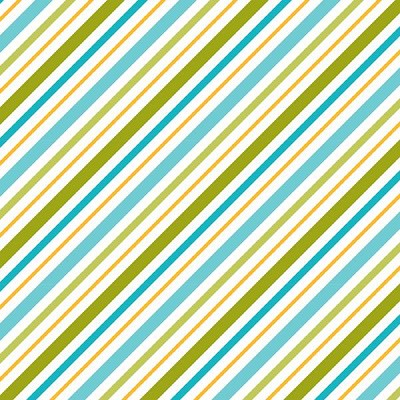 Riley Blake Designs - Happy Camper Stripe in Blue
