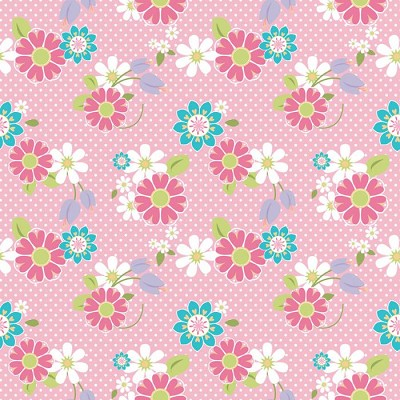 Riley Blake Designs - Dream and a Wish - Floral in Pink