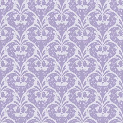 Riley Blake Designs - Dream and a Wish - Princess Damask in Purple