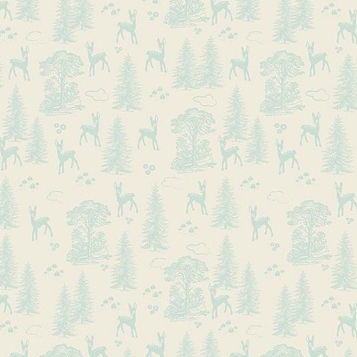 Riley Blake Designs - Woodland Spring Friends in Aqua