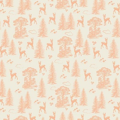 Riley Blake Designs - Woodland Spring Friends in Coral