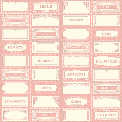 Riley Blake Designs - Farm Girl Canning Labels in Pink