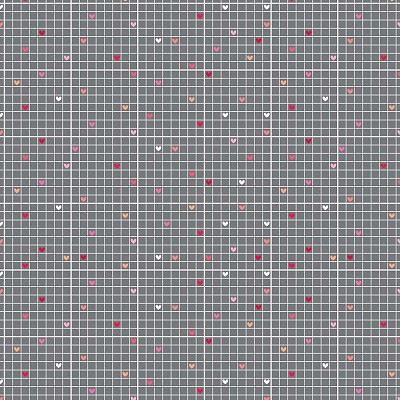 Riley Blake Designs - Lovebugs Grid in Gray
