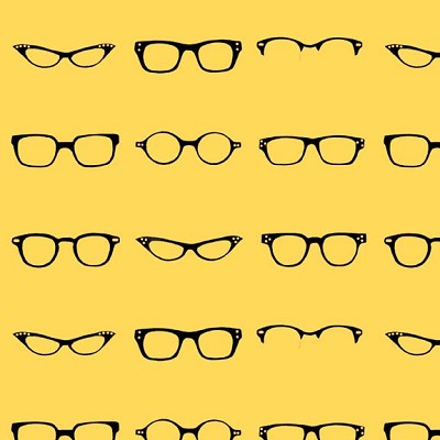 Riley Blake Designs - Geekly Chic - Glasses in Yellow