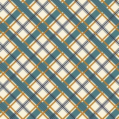 Riley Blake Designs - Keep On Groovin - Plaid in Cream