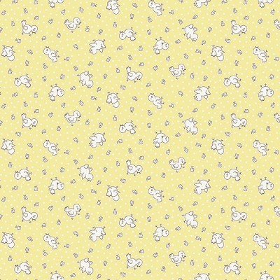 Penny Rose Fabrics - Apple Farm by Elea Lutz - Apple Chickadee Yellow