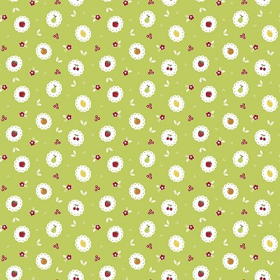 Riley Blake Designs - Sweet Orchard Scallop in Green
