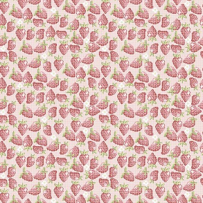 Riley Blake Designs - Into the Garden Strawberry in Pink