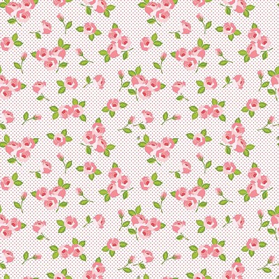 Riley Blake Designs - Kewpie Love Floral Cream