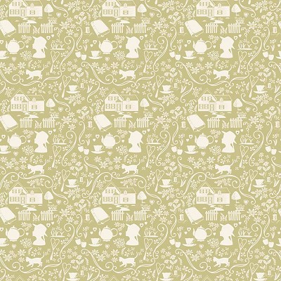 Penny Rose Fabrics - Anne of Green Gables - Silhouette Green