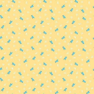 Penny Rose Fabrics - The Shabby Strawberry Birds in Yellow