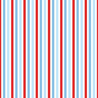 Riley Blake Designs - Sharktown Stripe Red