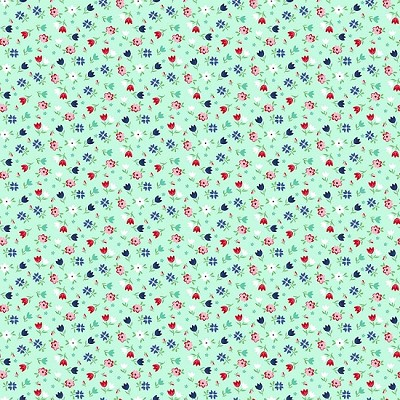 Riley Blake Designs - A Little Sweetness Floral Mint