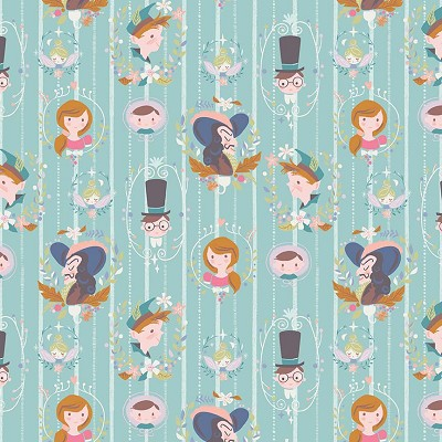 Riley Blake Designs - Neverland Darling Wall Mint