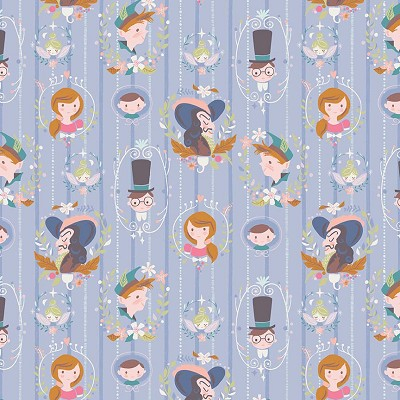 Riley Blake Designs - Neverland Darling Wall Periwinkle