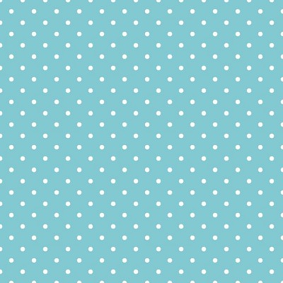Riley Blake Designs - Swiss Dot White on Aqua