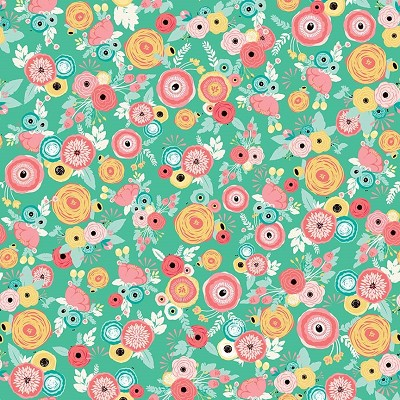 Riley Blake Designs - Just Sayin' Floral Mint