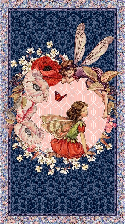 Michael Miller Elderberry Flower Fairies Panel